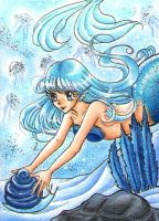 blue Memaid ACEO by Mana-Kyusai