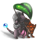 The Flaaffy, the Vulpix and the Big Leaf by Kattling