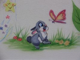 Bunny and butterfly by Mista-Ni9e