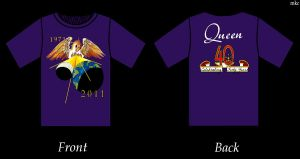 Queen Forty T-shirt by FuzzyClownSocks