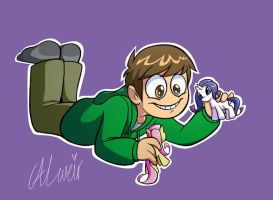 Edd With Ponies by LouiseWeird