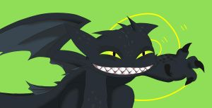 Toothless saids Hi by unknownlifeform