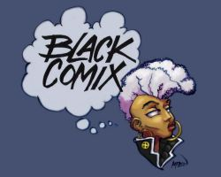 Black Comix Storm colored by Angelina by samax