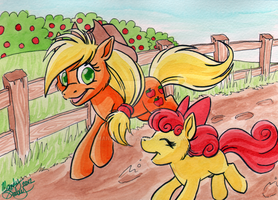 Applejack Watercolor by MandySeley