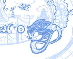 Just Another Sonic Doodle by JamesmanTheRegenold