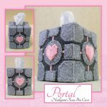 Portal Companion Cube Tissue Box Cover by purpleyoshi1