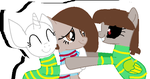 Asriel, Frisk and Chara by AnyPoopInAWorld
