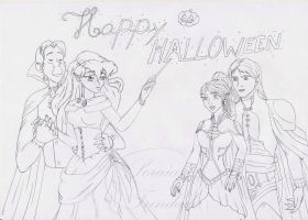 Sketch - Happy Halloween2 by Lady-Scorpion