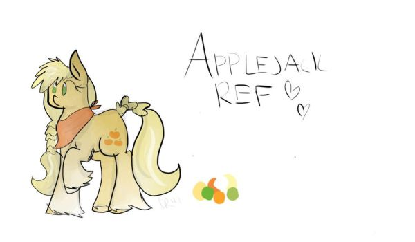 Applejack Color Reference by compassrose0425