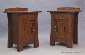 Matching Spiral Nightstands-End tables by DryadStudios