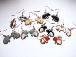 Billions of Rat Earrings by philosophyfox
