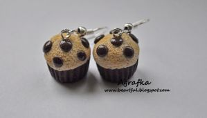 Chocolate chips muffins from polymer clay by Aagrafka