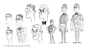 Dad in the middle Character Design by LorenzoSabia