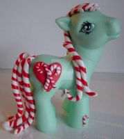 My little Pony Custom Candy Cane Love ~ $22 by BerryMouse