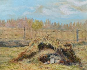 Pile of hay in Berezaika by AldemButcher
