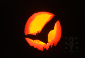 Flying Bat :HALLOWEEN 2015: by RedVioletPanda