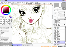 WIP: Ever After High OC by Coloralecante