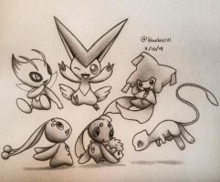 The Cute Legendaries by BluuKiss