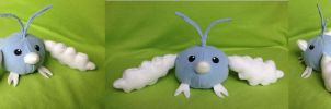 Selfmade Swablu plushie :3 by kovuification