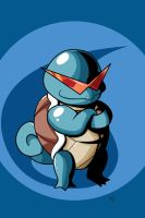 Pokemon - Badass Squirtle by OniMaru-04