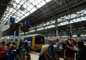 Chaos at Manchester Piccadilly Station by rlkitterman