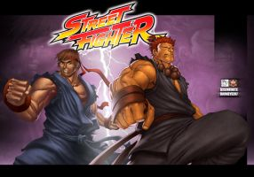 evil ryu vs. akuma by DXSinfinite