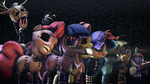 Five nights at Equestria 2 - withered animatronics by LunarGuardWhoof