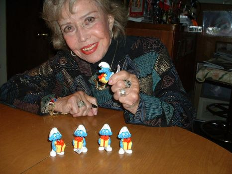 June Foray and Jokey smurf by osmosis430