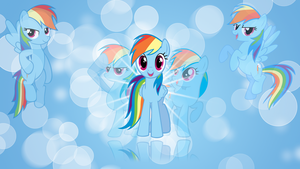 Rainbow Dash 'Bubbles!' Wallpaper by BlueDragonHans