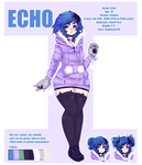 UTAU Echo Official Reference Sheet by Piannen by EchoExe