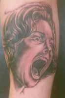 The Screamer by Johnny Jinx by BrokenCloverTattoo