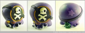 Pirate Skullypus Vinyl Custom by inki-drop