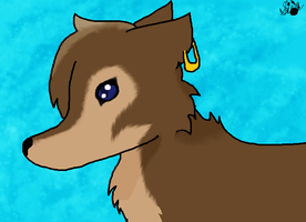 Kind of fail because of the muzzle, this is Cocoa by Radioactive-Demon