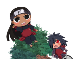 chibi madara vs hashirama by 9afeyah