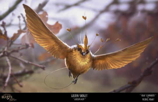 Fake-Tastic Beasts: Golden Snidget by JustMick