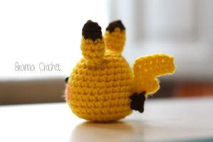 Pikachu crochet amigurumi doll plush by BramaCrochet