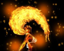 Girl on Fire by ladida2010