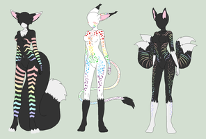 Rainbow Special 3 Pack Anthro Adopts - SOLD by ShadowInkAdopts