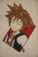 KH-Sora Cross-Stitch by LittelMoonie