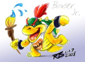Smash-A-Day 8-Bowser Jr. by ronnieraccoon