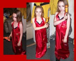 Sister dressed as Ada Wong by And-FOREVER