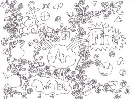 Elements Coloring Page by Darkened-94-Child