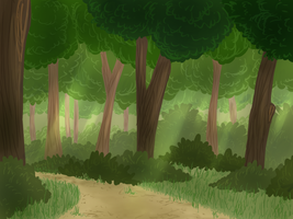 Background practice - Forest by Christin-Cat-Bat