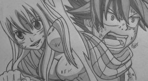 Natsu and Lucy by Conzibar