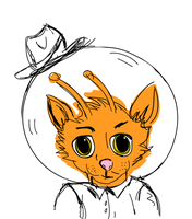 Detective Space Cat by simplygolightly