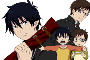 Rin and Yukio before and after by Narusailor