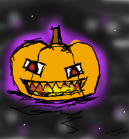 Whee A Pumpkin by HalfInane-HalfMental