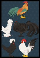 Nifty Chickens by spiffychicken