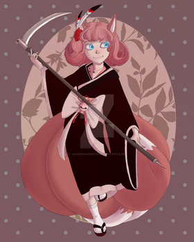 Rose Kitsune Adoptable [AUCTION/OPENED] by VanneonAdopts