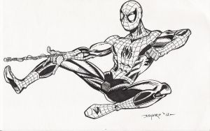 LEAPING SPIDEY by FanBoy67